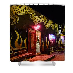Vintage Tattoo Parlour Shower Curtain by Nina Prommer