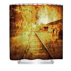 Vintage  Railway Portland Pa Usa Shower Curtain