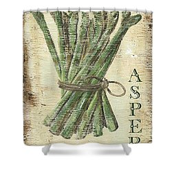 Vintage Vegetables 1 Shower Curtain by Debbie DeWitt