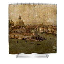 Vintage Venice Shower Curtain by Lois Bryan