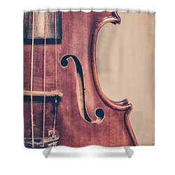 Vintage Violin Portrait 2 Shower Curtain