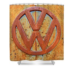 Vintage Volkswagen Bus Logo Shower Curtain