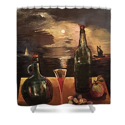Vintage Wine Shower Curtain