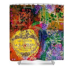 Vintner Label Shower Curtain