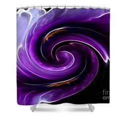Viola Swirl Shower Curtain