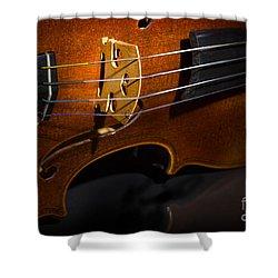 Viola Violin On Tabletop String Bridge In Color 3077.02 Shower Curtain