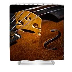 Viola Violin String Bridge Close In Color 3076.02 Shower Curtain