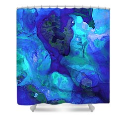 Violet Blue - Abstract Art By Sharon Cummings Shower Curtain by Sharon Cummings
