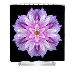 Violet Dahlia I Flower Mandala Shower Curtain