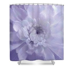Violet Mum Luminous Painted Blossom Shower Curtain