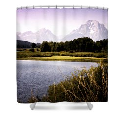 Violet Tetons Shower Curtain