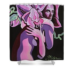 Violet Shower Curtain by Yelena Tylkina