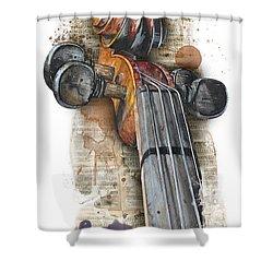 Violin 01 Elena Yakubovich Shower Curtain