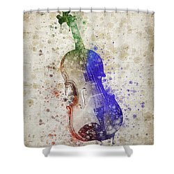 Violin Shower Curtain by Aged Pixel