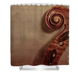 Violin Scroll Shower Curtain