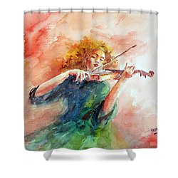 Violinist Shower Curtain
