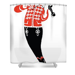 Violinist Shower Curtain by Gary Grayson