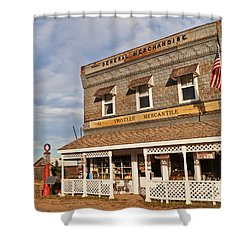 Shower Curtain featuring the photograph Virgelle Mercantile by Sue Smith