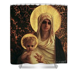 Virgin And Child Shower Curtain by Antoine Auguste Ernest Herbert
