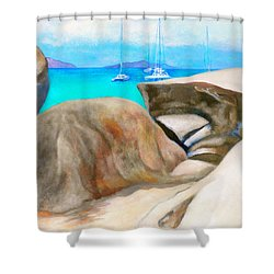Virgin Gorda Baths Shower Curtain