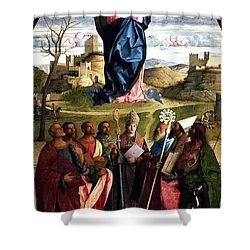 Virgin In Glory With Saints 1515 Giovanni Bellini Shower Curtain by Karon Melillo DeVega