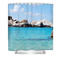 Virgin Islands The Baths Shower Curtain