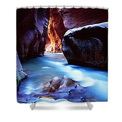 Virgin River At Zion National Park Shower Curtain