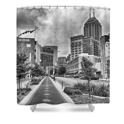 Shower Curtain featuring the photograph Virginia Ave. by Howard Salmon