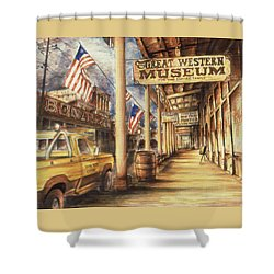 Virginia City Nevada - Western Art Shower Curtain by Art America Gallery Peter Potter