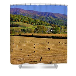 Virginia Country Roads - Autumn In The Shenandoah Valley - No. 1 Shower Curtain by Michael Mazaika