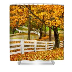 Virginia Horse Country Shower Curtain