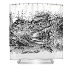Virginia Kendall Ledges - Cuyahoga Valley National Park Shower Curtain