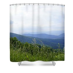 Shower Curtain featuring the photograph Virginia Mountains by Laurie Perry