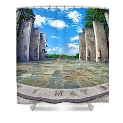 Virginia Tech War Memorial Shower Curtain