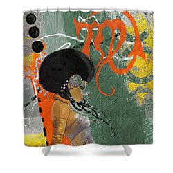 Virgo - B Shower Curtain by Corporate Art Task Force