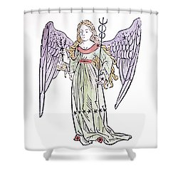 Virgo An Illustration From The Poeticon Shower Curtain by Italian School