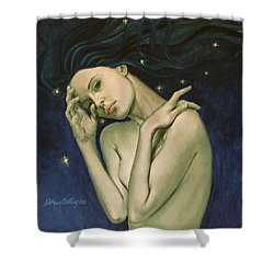 Virgo  From Zodiac Series Shower Curtain by Dorina  Costras