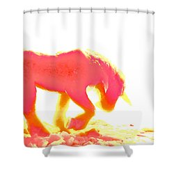 Visible Pink Unicorn Shower Curtain