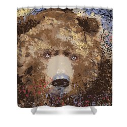 Visionary Bear Shower Curtain