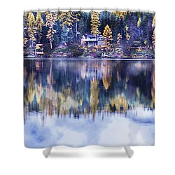 Visions- Lake Inez Shower Curtain