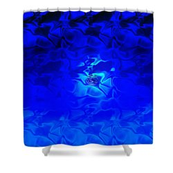 Visions Of Blue Shower Curtain