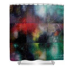 Visions Of Space And Time Shower Curtain by Jeremy Aiyadurai