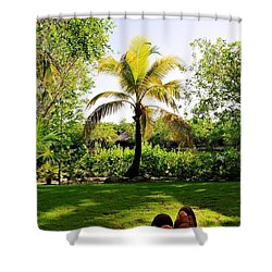 Visiting A Mayan Trail Shower Curtain
