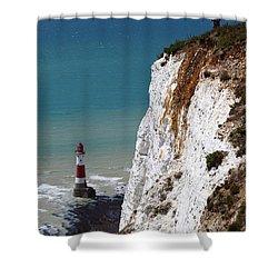 Visiting Beachy Head Shower Curtain by James Brunker