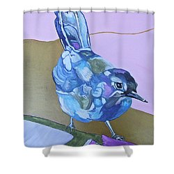 Visiting Wren Shower Curtain