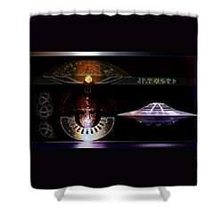 Visitor To Atlantis Shower Curtain by Hartmut Jager