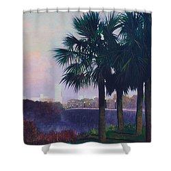 Vista Dusk Shower Curtain by Blue Sky