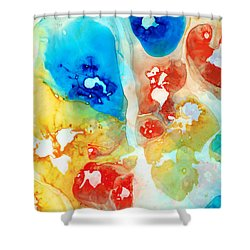 Vitality - Contemporary Art By Sharon Cummings Shower Curtain by Sharon Cummings