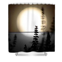Vitex Moon Shower Curtain by Charlotte Schafer