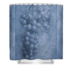 Vitis Cyanotype Shower Curtain by John Edwards